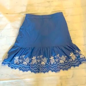 🧡3 for $25 🧡 J CREW embroidered Flounce Skirt